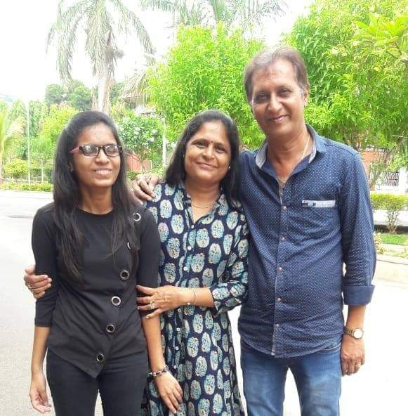 Kalgi Rawal with her parents