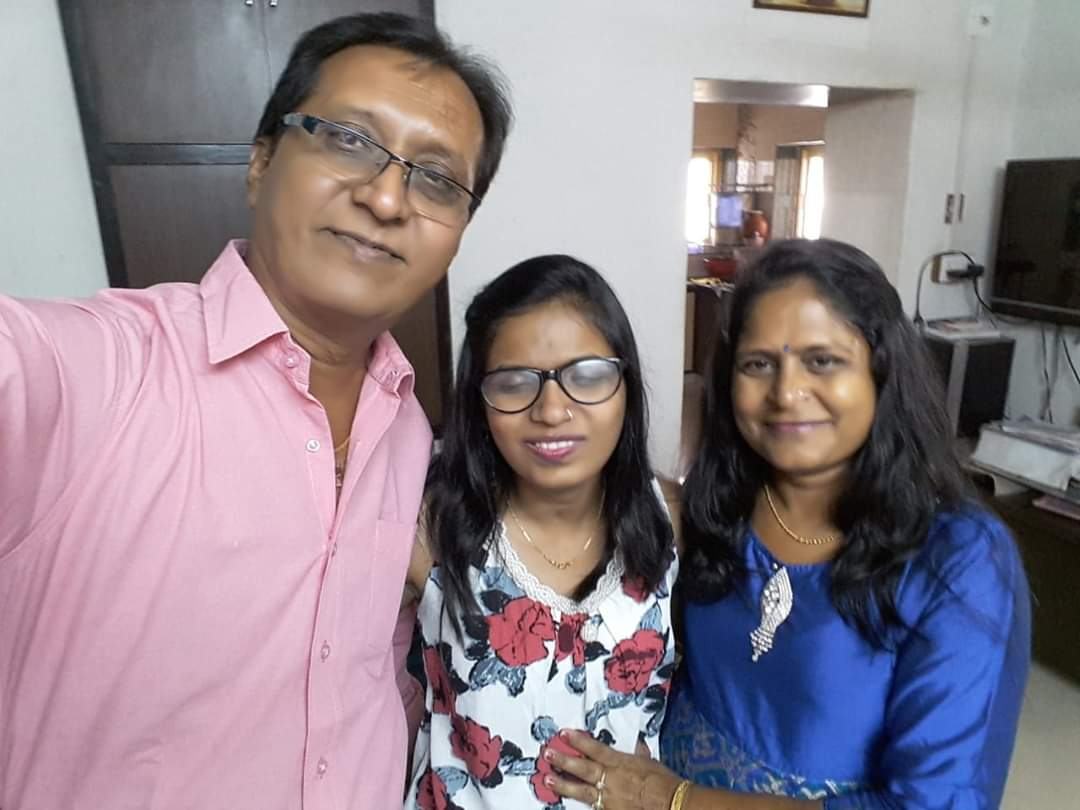 Kalgi with her parents