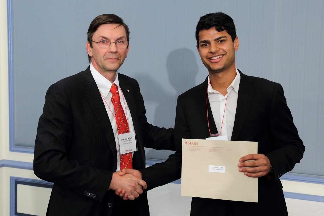 Sanchit gets an award
